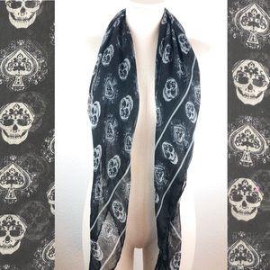Skull & Spade Oversized Scarf